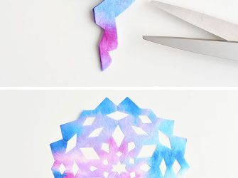 Coffee Filter Snowflakes Craft